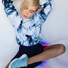 Aqua Ink Unisex Sweatshirt by Fusion