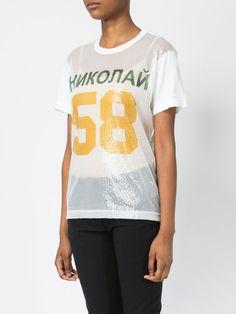 257ef3ee90d42c Junya Watanabe  58  T-Shirt Mit Paillettenstickerei - Farfetch