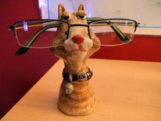 Eyeglasses holder. Eyeglass Holder, Eyeglasses, Giraffe, Pottery, Eyes, Artwork, Animals, Eyewear, Ceramica