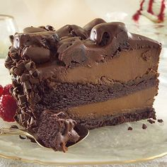 Amazing Chocolate Fudge Layer Cake with Caramel Fudge Filling