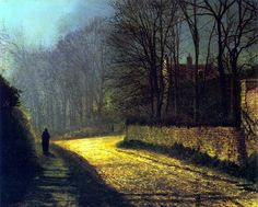 The Lovers by John Atkinson Grimshaw. 1874