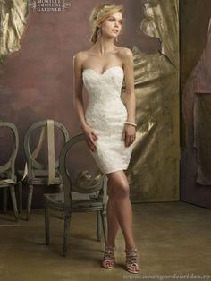 Modern Sheath Sweetheart Zipper Back Short-length Wedding Dress picture 1 Chic Wedding Dresses, Wedding Dress 2013, Lace Wedding Dress, Wedding Dress Pictures, Sweetheart Wedding Dress, Wedding Gowns, Bridesmaid Dresses, Tulle Wedding, Dress Lace