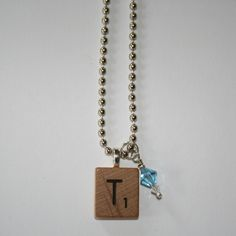Scrabble Tile Necklace and GIVEAWAY!!!