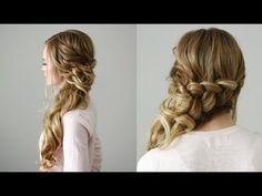 Side Swept Dutch Braid | Missy Sue - YouTube