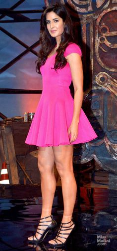 Katrina Kaif sure is one leggy lass - showing off her sexy legs in a short mini dress. Indian Actress Hot Pics, Bollywood Actress Hot Photos, Indian Bollywood Actress, Bollywood Girls, Beautiful Bollywood Actress, Most Beautiful Indian Actress, Bollywood Fashion, Indian Actresses, Katrina Kaif Hot Pics
