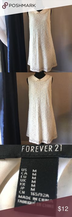 Forever 21 Peter Pan collar lace dress Forever 21 cream lace Peter Pan collar dress worn once Forever 21 Dresses