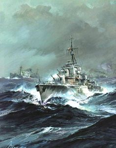 Military Photos, Military Art, Submarine Pictures, Imperial Japanese Navy, Air Fighter, Ship Paintings, Naval History, Boat Painting, Military Diorama