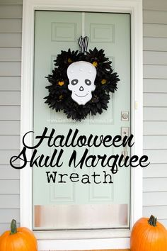 hello door decor. Halloween crafts are in the air, use this tutorial to get the season started.