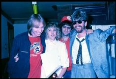 Stevie Nicks with Tom Petty, Jimmy Iovine, and Dave Stewart (**RARE original photos courtesy of Rosemary Cantali~photographer: HWIII**)