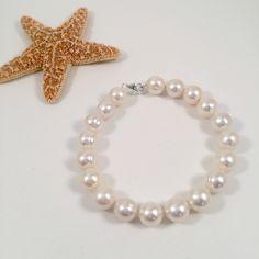 Classy Freshwater Pearl Bracelet, Elegant Bracelet, Mother's Day Gift, Bridal Bracelet, Bridesmaid Bracelet, Wedding Jewelry by JiaojiaosPearls on Etsy