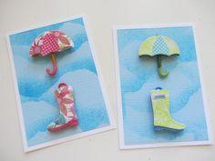 umbrella card **FREE ViNTaGE DiGiTaL STaMPS**