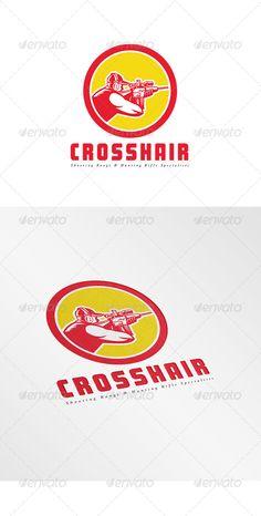 ◲ [Get Nulled]◈ Crosshair Shooting Range Logo Aiming Circle Crosshair Gun Hunt Hunter Circle Logo Design, Circle Logos, Logo Design Template, Logo Templates, Graphic Design, Shooting Range, Information Graphics, Male Man, Monogram Logo