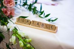 Today we head over to Clitheroe for this fun, pink, scrabble themed wedding shot by the amazing Jonny Draper Wedding Favours, Wedding Themes, Wedding Ideas, Whimsical Wedding, Boho Wedding, Wedding Bells, Scrabble Wedding, Seating Chart Wedding, Seating Charts