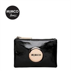 #wishlist Mimco Pouch - Black/Rose Gold hardware.
