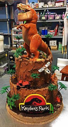 Jurassic Park Birthday Cake - Adrienne & Co. Bakery