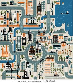 City map by Stella Caraman, via ShutterStock