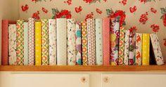 boeken kaften en schattig behangpapier!