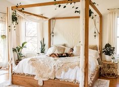 Do you have an inclination for the splendid and clean boho look, yet has additionally built up a solid preference of light tones? Go for this plan. this room is turned into a wellspring of motivation … – Home Decor Ideas Boho Bedroom Decor, Boho Room, Room Ideas Bedroom, Home Bedroom, Bedroom Designs, Gypsy Room, Nature Bedroom, Floral Bedroom, Bohemian Bedding
