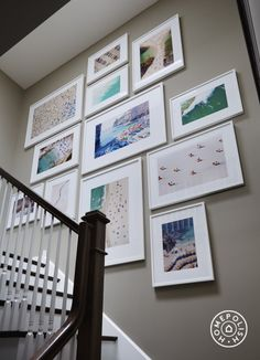 Stair travel photo display