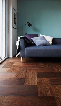"""Il #Formpark di @bauwerkparkett la """"piastrella"""" in #legno dalle infinite combinazioni di posa!Il #design parte dal pavimento.   Formpark Mini - Rovere Fumè - olio naturale - parquet - pavimento in legno"""