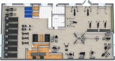 RoomSketcher Gym Floor Plan