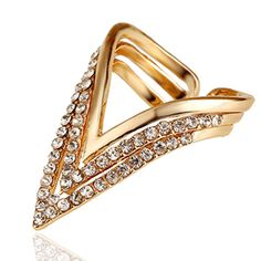 Punk Rings Wholesale Rose Gold Plated Geometric Triangle Ring For Women CZ Diamond Ring Bague Anelli Donna Anillos Mujer