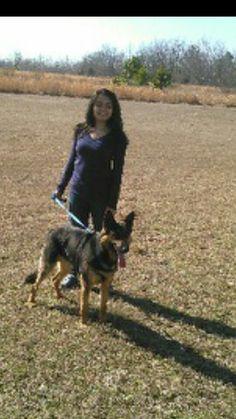 Walking my dog at the park