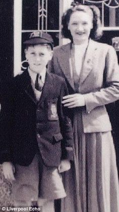 Fab Four Pic of the Day:  A newly surfaced photo of John Lennon and his mother Julia.