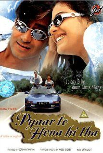Pyaar To Hona Hi Tha woman (Kajol) seeking a lost love meets a charming thief (Ajay Devgan), who helps her find her stolen airline-baggage. Romance Movies, Comedy Movies, Drama Movies, Films, Movie List, I Movie, Movie Stars, Full Movies Download, Indian Movies