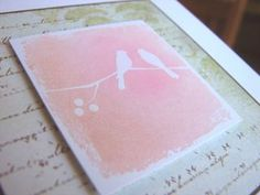 Stamp a solid image with a colored pigment ink (slow drying), then apply chalks to add interest.  (Sep'13)