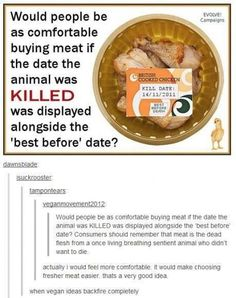 Actually yeah. That would make it a whole lot more comfortable to buy meat.