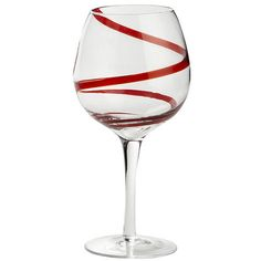 Red Spiral Stemware...already have this set in blue! Think I may need these too!