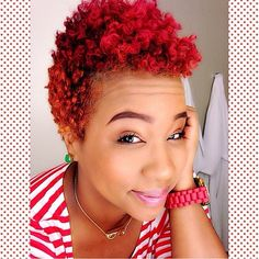 trials-n-tresses:  @theiconiclife vibrant color!#teamnatural #naturalhair #natural #naturalhairdoescare #trialsntresses #beauty #hair #girls #kinkycurly #naturalgirlsrock #naturalhairrocks #naturalladies #naturallydope #haircrush #naturalhairdaily #naturalbeauty #hotd #naturalista #redhair