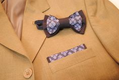 Set of EMBROIDERED bow tie&pocket square Pretied от accessories482