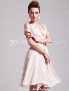 TS Silver Organza Dress - US$ 32.50