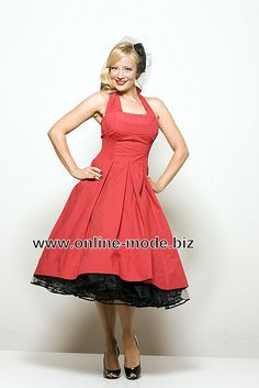 Pettycoat Style Abend Kleid online in Rot