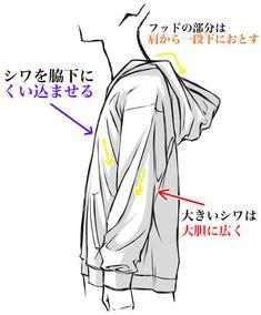 【服の描き方:No.3】パーカーの基本的な描き方について紹介!
