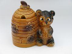 Honey Bee Kitchen Decor | Made In Japan, Vintage Ceramic Honey Bear Jam Jar  Beehive