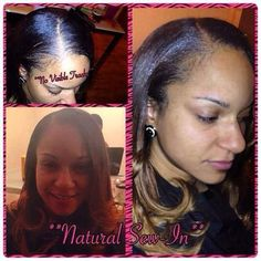 Natural Sew-In allows you to wear your hair as your very own with some of your natural hair out on your edges, sides and back, this allows you the ability to wear your hair in a mid to low ponytail! Stylist: Mz. Nikki