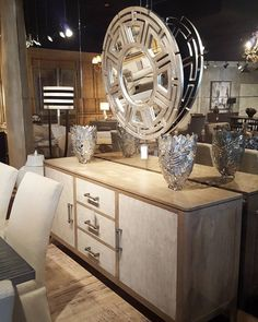 Dinner parties are easier with the casually elegant Matteo Sideboard! Crafted in mango solids and veneers, and finished with cement slab material drawers and door fronts, this piece is fashionable yet functional.