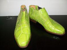 Yikes! Men's Lime Green Genuine Alligator Shoes sz 9M. $175.00, via Etsy.