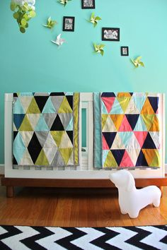 custom triangle quilt by iviebaby on Etsy, $150.00