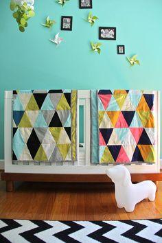 custom triangle quilt.