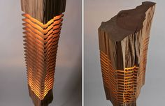 Sliced Lamps Made From Real Firewood Show The Beauty Of Simple Things - Album on Imgur