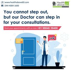 Ask your #elders to #staysafe at home, while our #doctors visit them for their consultations. Book your appointments with us at 98846 39400. #HomeDoctorVisits #DoctoronCall #DoctorConsultationatHome #Healthabove60 Doctor On Call, Doctor In, Home Doctor, Chennai, Appointments, Health Care, Mom, Books, Libros