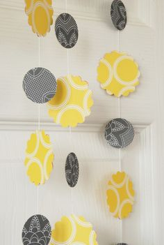 paper garland in #yellow and #gray