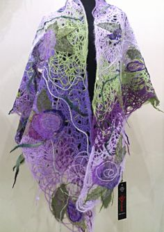 """Yaga shawl from the collection of fashion accessories """"FLEUR"""", #scarves #shawls Shawl. Material: wool 60%, acrylic 40%. Price: $125"""