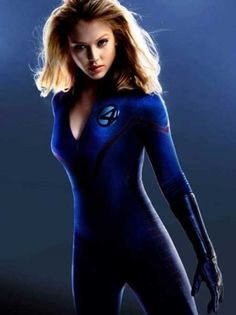 Jessica Alba as Invisible Woman: A Marvel Comics superheroine, Jessica Alba's character in Fantastic Four becomes invisible following an exposure to a cosmic storm. We believe Alba in her blue leather bodysuit can give her counterparts a run for their money!