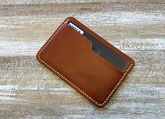 Cousu à la main portefeuille minimaliste, Rabat portefeuille, porte cartes en cuir, porte-cartes porte-monnaie, porte-cartes Colorplay en cuir avec cuir végétale Italie
