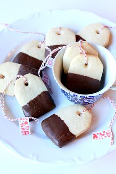 Chocolate-Dipped Tea Bag Cookies